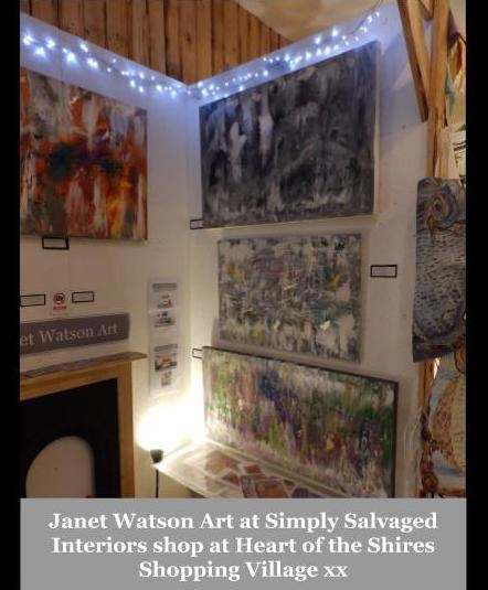 Janet Watson Art at Simply Salvaged Interiors shop at Heart of the Shires