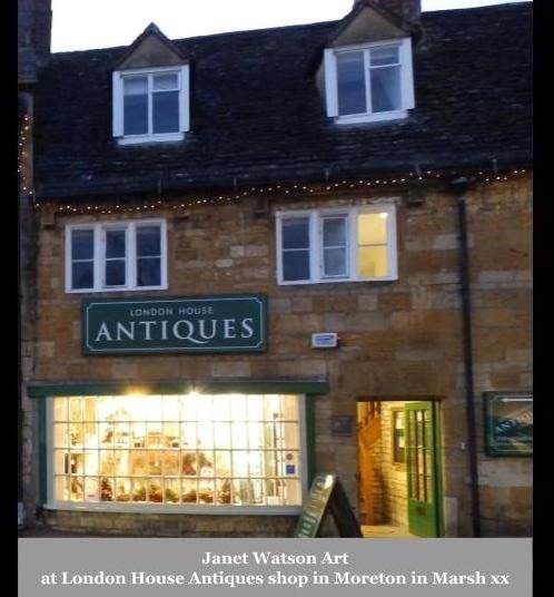 Janet Watson Art at London House Antiques shop in Moreton in Marsh xx 2