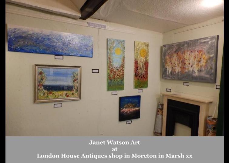 Janet Watson Art at London House Antiques shop in Moreton in Marsh xx 1
