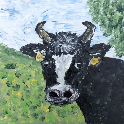 Sunny Meadow Moo deigned and created by (c) Janet Watson Art xx