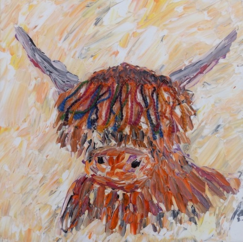 Highland Moo designed and created by (c) Janet Watson art xx