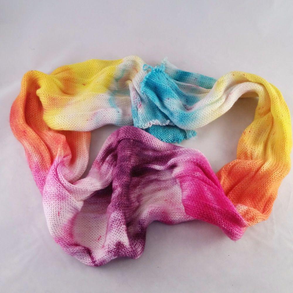 Fractured Sanity Grad on Merino Nylon sock