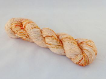 Orange Speckles on SuperMerino Sock