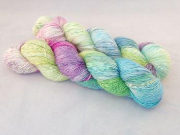 Siren's Song on Merino Silk Singles Sock