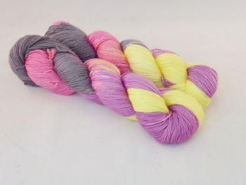 Sunset on Merino Silk High Twist Sock