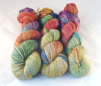 Rainbows on Merino / Silk / Yak DK