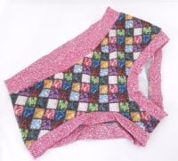 MEDIUM Boy Shorts UK 10-12 - Buttons / Pink