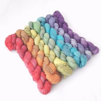 Merino / Nylon Sock - Dirty Little Rainbow - 7 x 20g