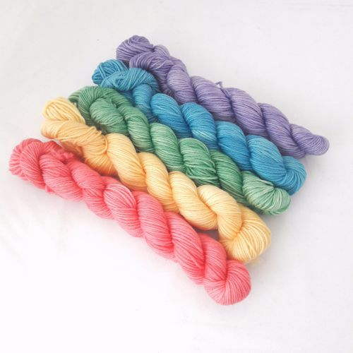 Super Merino Sock - 5 Colour Rainbow - 5 x 20g
