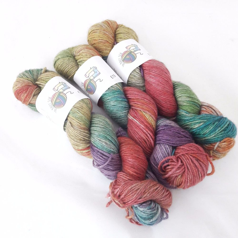 Rainbows on Merino / Silk / Yak DK