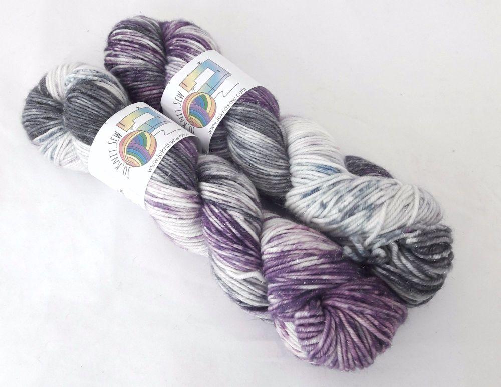 Purple Ronnie on Merino / Nylon / Sparkle DK