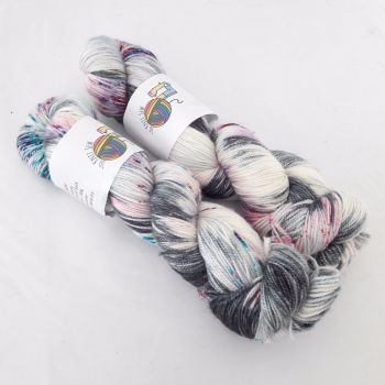 Spacey on Merino Silk High Twist Sock