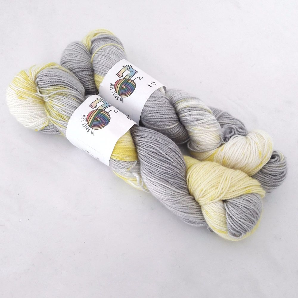 Spring Fling on Merino Silk High Twist Sock