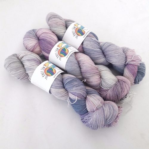 Purple Glades on Merino Nylon Platinum sock