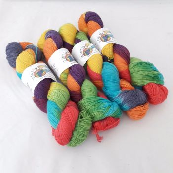 Rainbow Patches on Merino Nylon Platinum sock