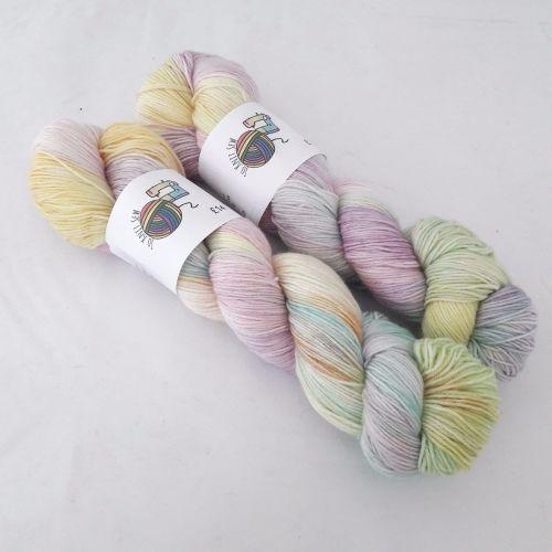 Pastel Rainbow on Merino Nylon Platinum sock