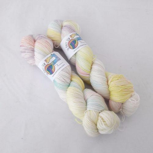 Pastel Rainbow on Merino / Nylon Titanium sock