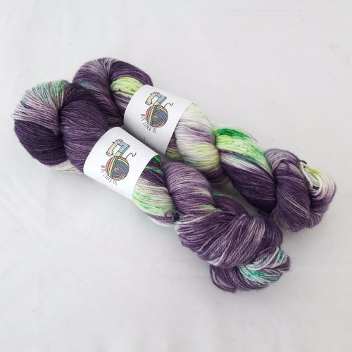 Out of This World on Silver Sparkle Sock