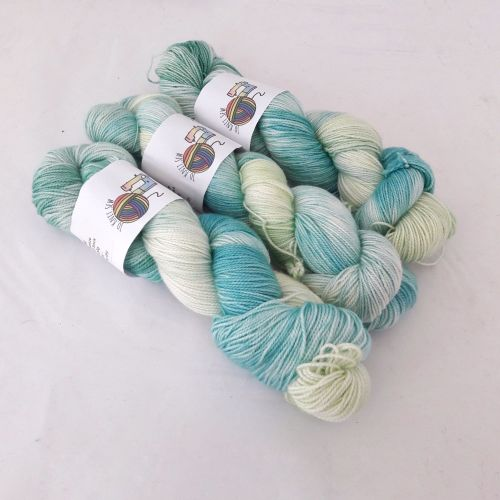 Shore Breeze on Merino Silk High Twist Sock