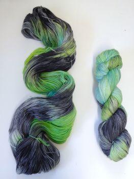 Into the Deep on Merino / Nylon Titanium sock