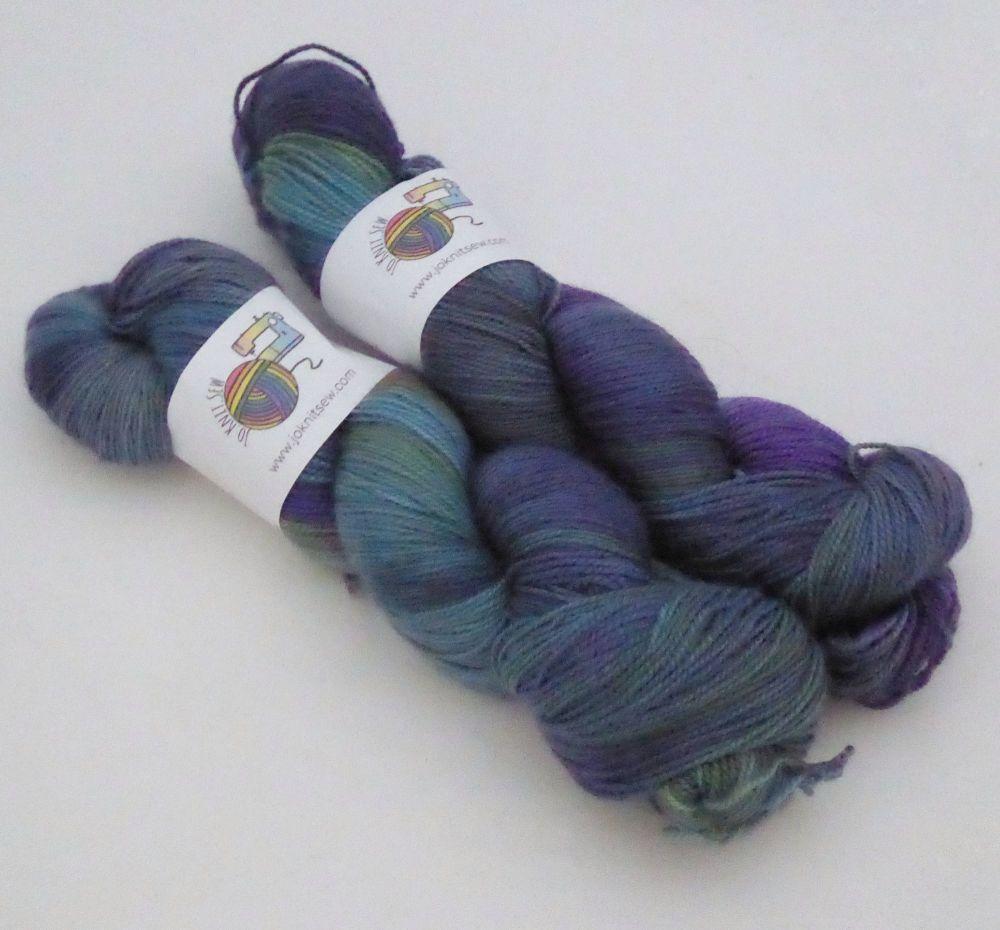 Opal's Eve on Merino / Nylon Titanium sock