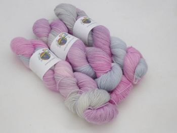 Fairy Glades on Merino / Nylon Titanium sock