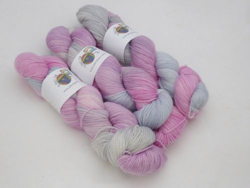 Fairy Glades on Merino / Nylon Titanium sock