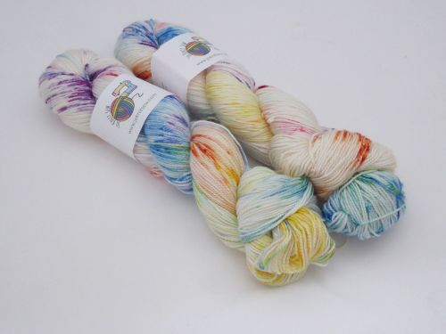 Fool's Rainbow on Merino Silk High Twist Sock