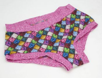 LARGE Boy Shorts UK 14-16 - Buttons / Pink