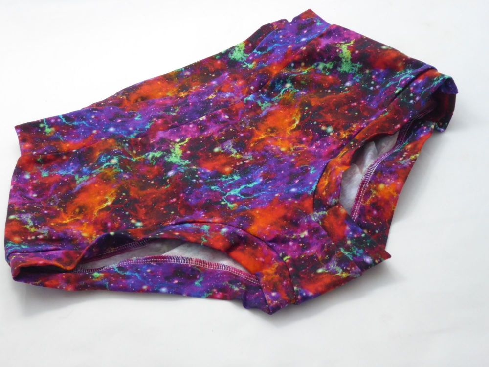 XL Boy Shorts UK 18-20 - Galaxy