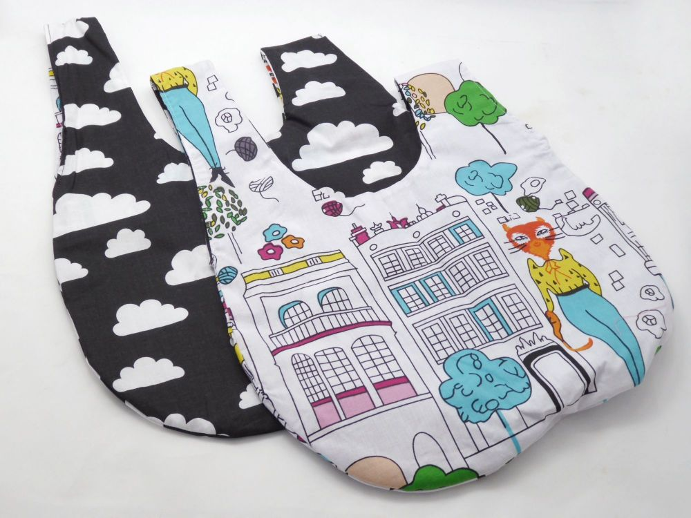 Black Cloudy Kittens Medium Project Bag