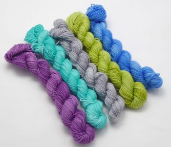 Merino / Nylon Sock - Shelley - 5 x 20g
