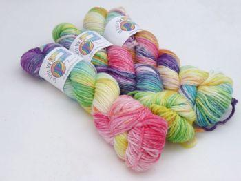 Short Rainbows on Super Merino Aran