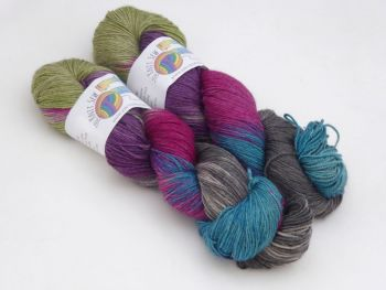 Toil & Trouble on Merino / Yak / Silk sock