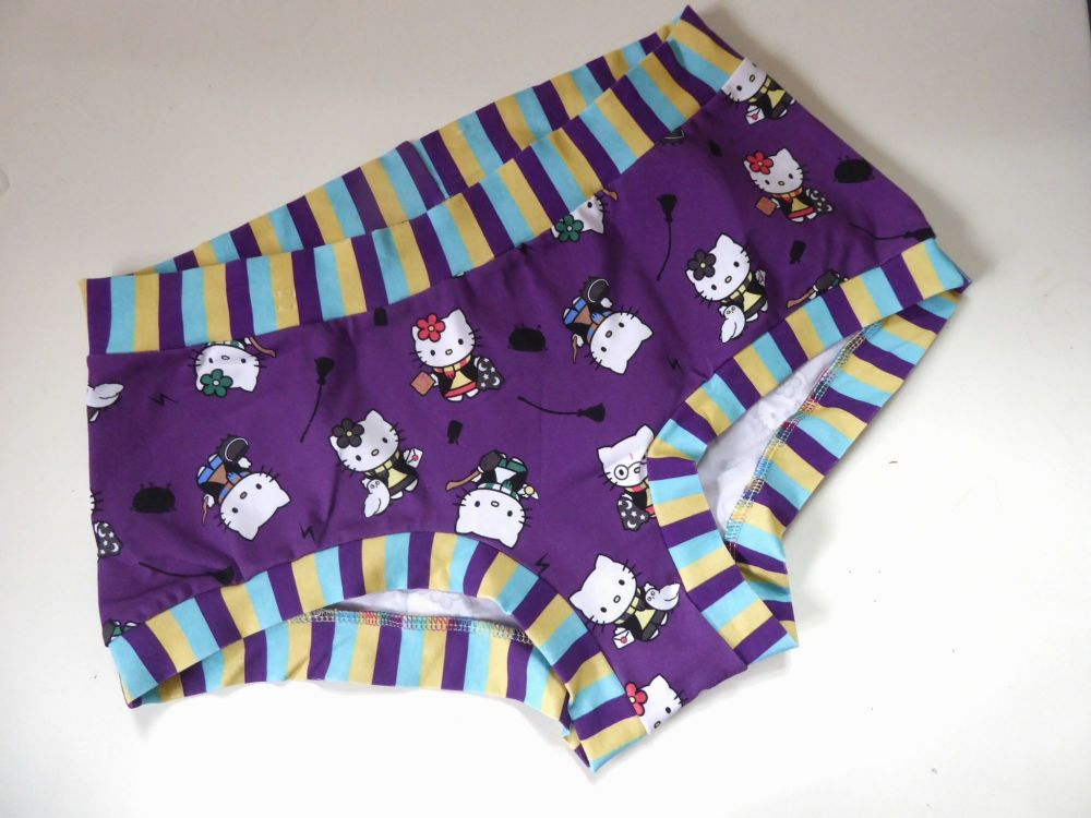 XL Boy Shorts UK 18-20 - Potter Kitties