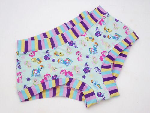 LARGE Boy Shorts UK 14-16 - Green Ponies
