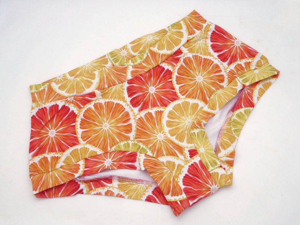 XL Boy Shorts UK 18-20 - Oranges and Lemons