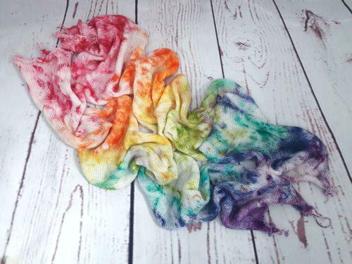 Rainbow Speckled on Merino Nylon sock