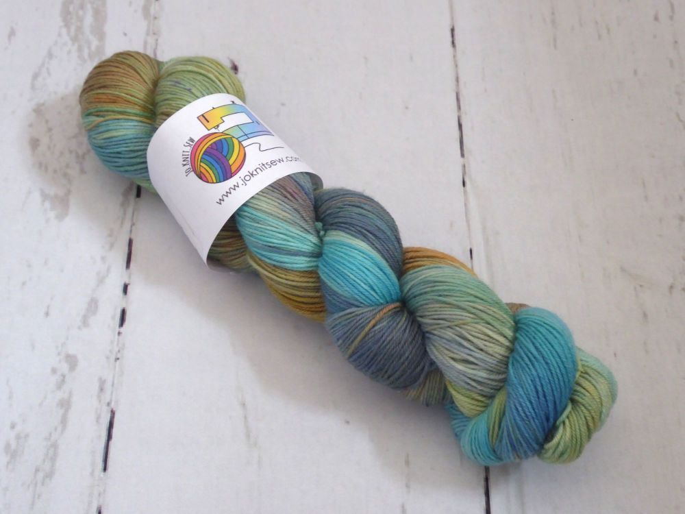 Verdigris on SuperMerino Sock