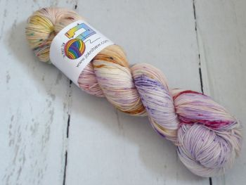 Land of Make Believe on Merino Nylon Platinum sock