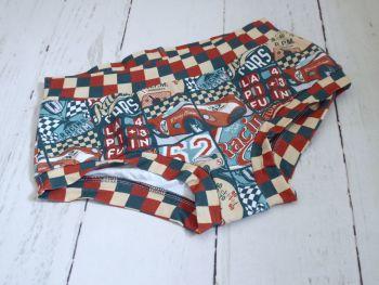 MEDIUM Boy Shorts UK 10-12 - Racer Boy