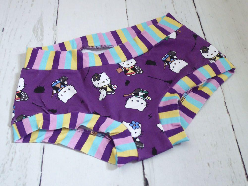 SMALL Boy Shorts UK 6-8 - Kitty Potter