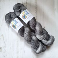 Steel on BFL / Silk Lace