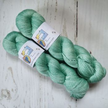 Sea Glass on BFL / Silk Lace