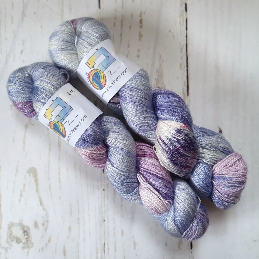 Dreams of Lavender & Black on BFL / Silk Lace