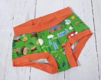 SMALL Boy Shorts UK 6-8 - Camp Out