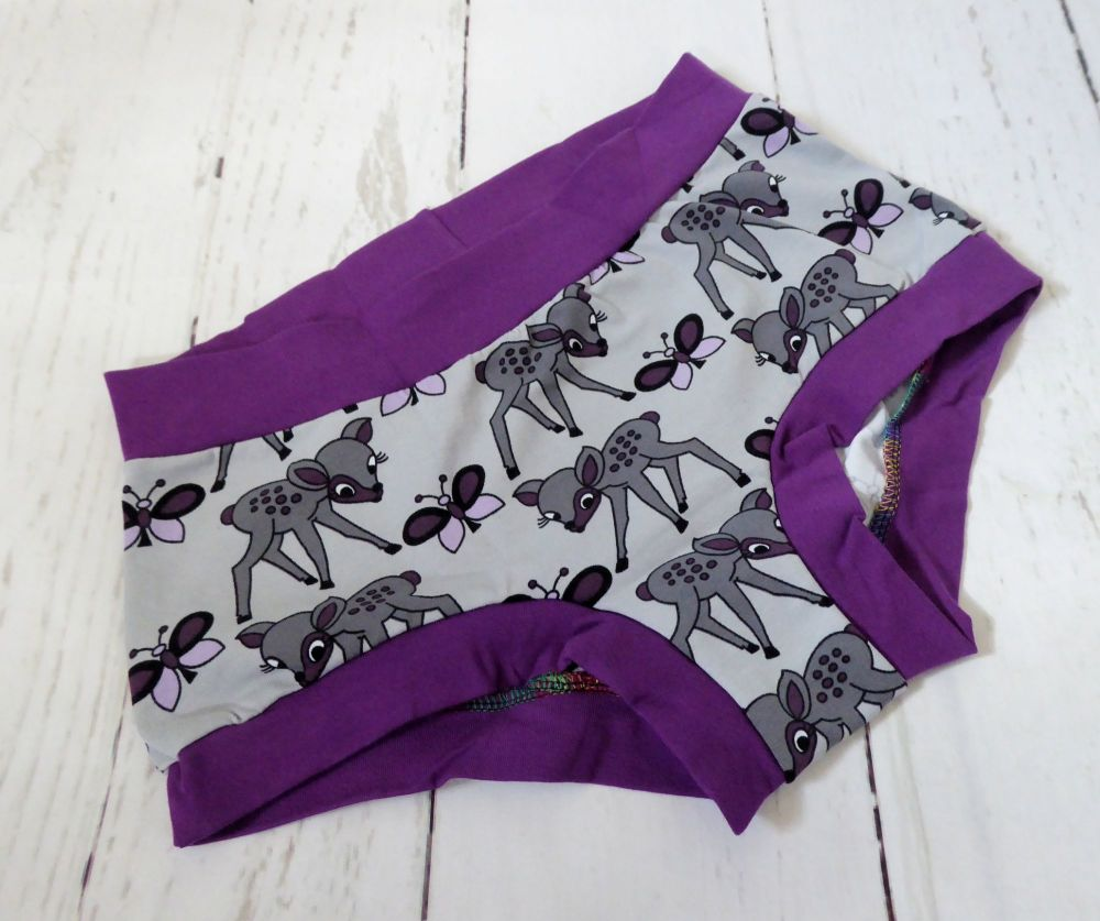 SMALL Boy Shorts UK 6-8 - Baby Deer