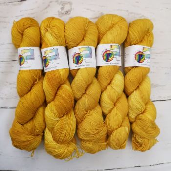 MUSTARD Semi Solid on Merino Nylon Platinum sock