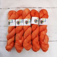ORANGE Semi Solid on Merino Nylon Platinum sock