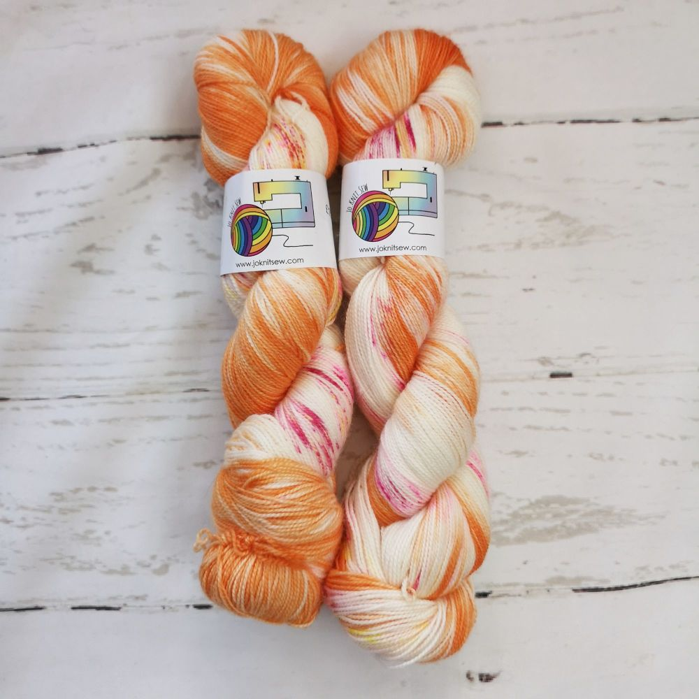 Orange you FAB on Merino / Nylon Titanium sock